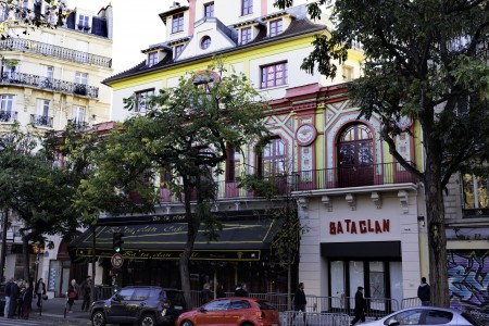 The New Facade Of The Bataclan In Paris