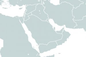 Middle East region map icon